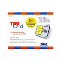 TIM CARD Da 0,01 a 1 EURO Con Adattatore MICRO e NANO