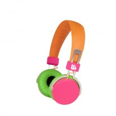 M-HL 735Urban Beatz Neon Headphone - Orange Pink Green