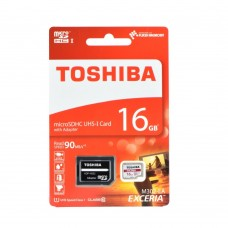 MICRO SD CON ADATTATORE M302-EA TOSHIBA 16GB CL.10  100MB-S
