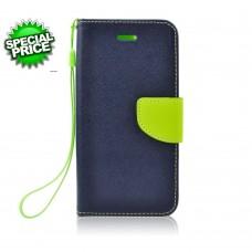 BOOK CASE HUAWEI Y5II-Y6 Compact  blu-lime